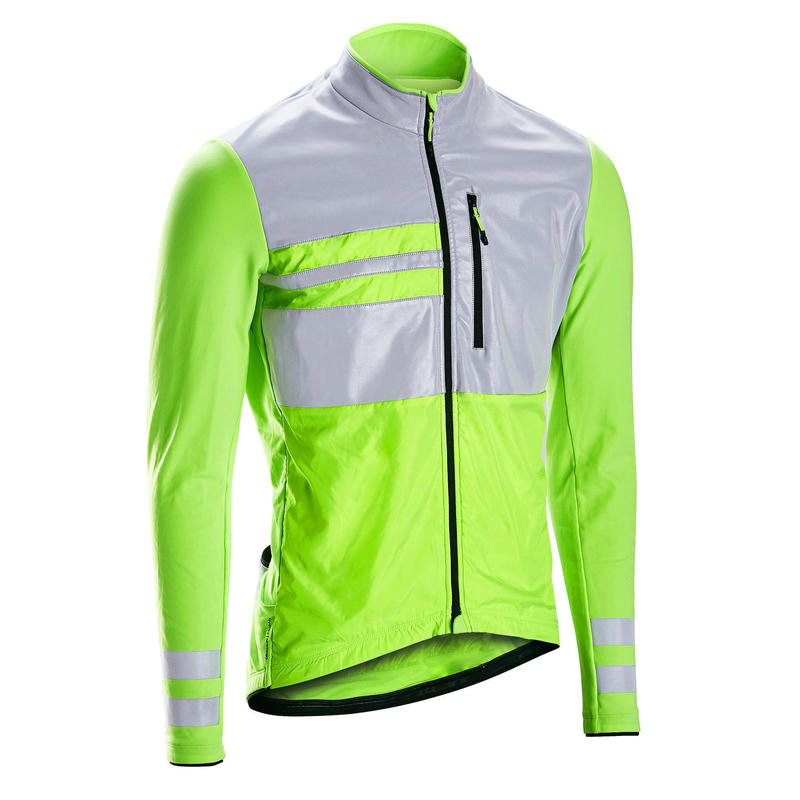RC500 Hi Vis Warm Long Sleeve Cycling Jersey - EN1150 Yellow