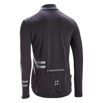 חולצה ארוכה RC500 לרכיבה על אופני כביש - שחור