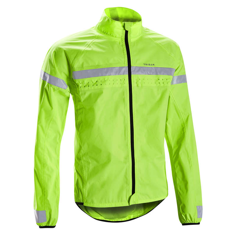 MEN WET WEATHER ROAD CYCLING APPAREL Cycling - Men's Rain Jacket RC120 TRIBAN - Cycling