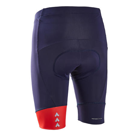Men's Bibless Bicycle Touring Road Cycling Shorts RC100 - Navy/Red