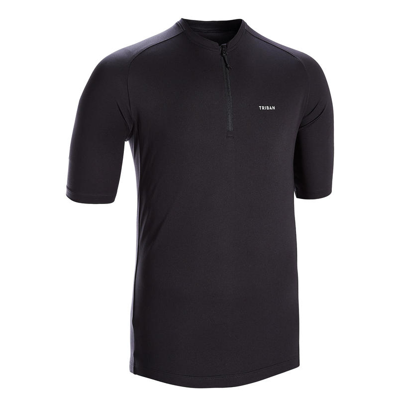 Men's Road Cycling Short-Sleeved Jersey Essential - Black