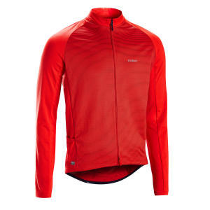 MAILLOT MANCHE LONGUE RC100 UVP ROUGE