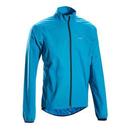 Regen fietsjas voor heren RC100 blauw