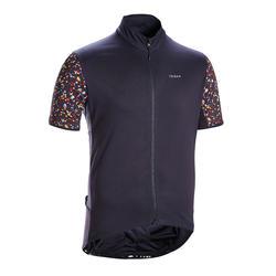 Fietsshirt met korte mouwen voor heren racefietsen RC500 Terrazzo zwart