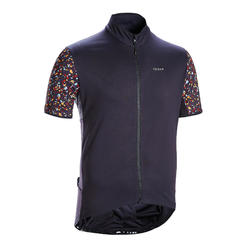 MAILLOT MANCHES COURTES VELO ROUTE TRIBAN RC500 TERRAZZO NOIR