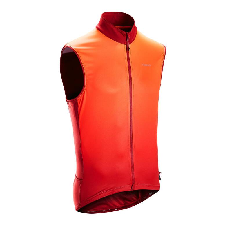 PÁNSKÉ OBLEČENÍ NA SILNIČNÍ CYKLISTIKU DO TEPLÉHO POČASÍ Cyklistika - CYKLISTICKÝ DRES RC500 ČERVENÝ TRIBAN - Helmy, oblečení, obuv