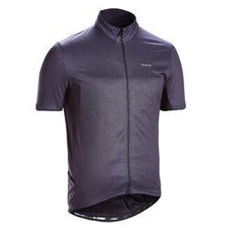 Fietsshirt met korte mouwen voor heren racefietsen RC500 zwart