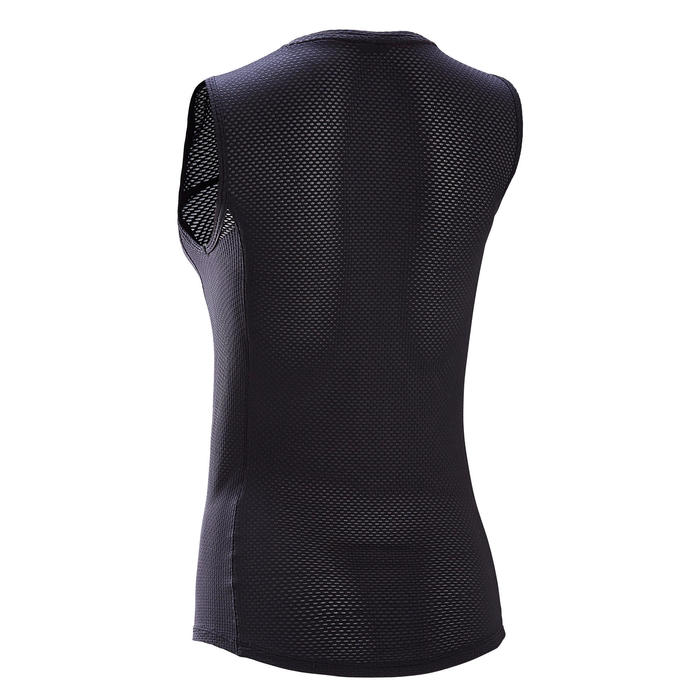 Fietsondershirt voor dames warm weer zwart