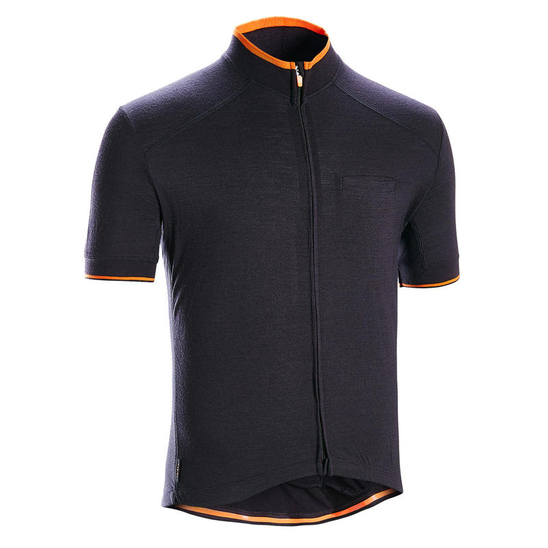 RC900 Merino Short Sleeve Cycling Jersey - Dark Grey