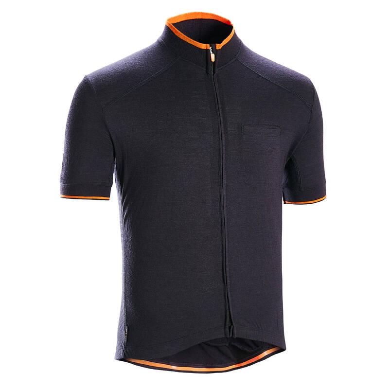 PÁNSKÉ OBLEČENÍ NA SILNIČNÍ CYKLISTIKU DO TEPLÉHO POČASÍ Cyklistika - DRES RC 500 ČERNÝ TRIBAN - Cyklistické oblečení