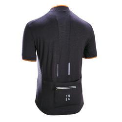 Wielershirt heren RC900 met korte mouwen merinowol zwart