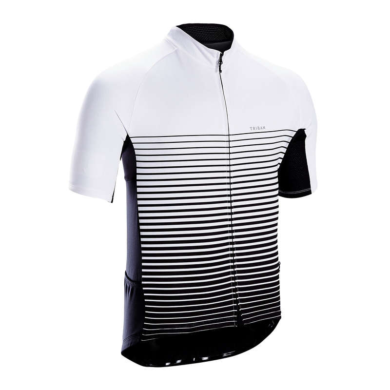 MEN WARM WEATHER ROAD CYCLING APPAREL Cycling - Cycling Jersey RC100 - White TRIBAN - Cycling