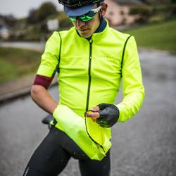 Fahrradjacke Rennrad Racer mit abnehmbaren Ärmeln gelb