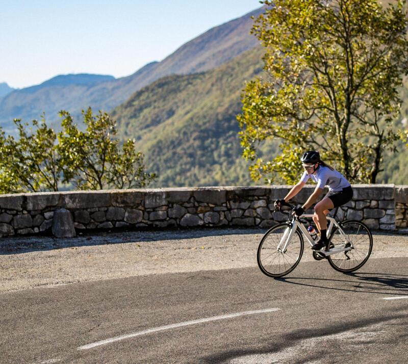 ascension à vélo