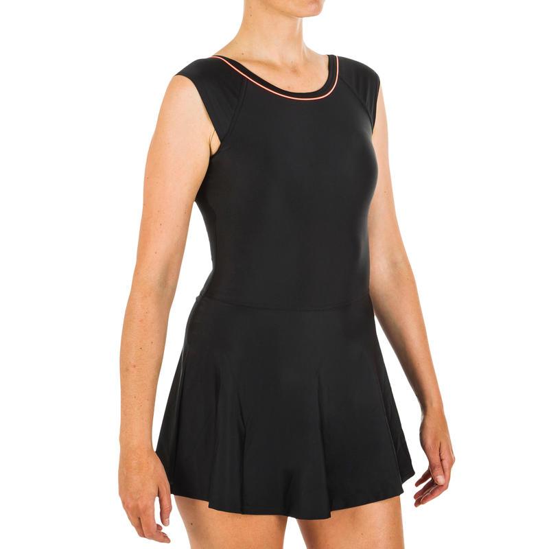 Women's Swimming One-Piece Swimsuit Una - Black