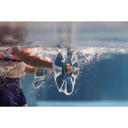 Paire d' haltères aquatiques Pullpush flower L Aquagym-Aquafitness bleu