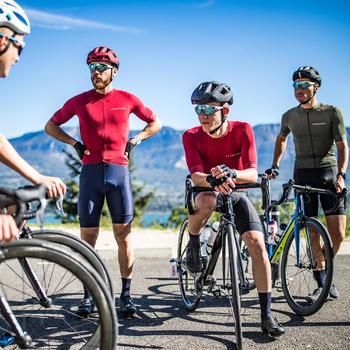 Maglie bici da corsa Maglia ciclismo uomo RACER nera VAN RYSEL | DECATHLON