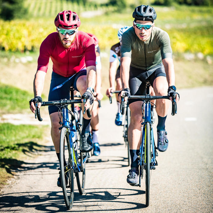 Maillot manches courtes Vélo Route VAN RYSEL RACER rouge