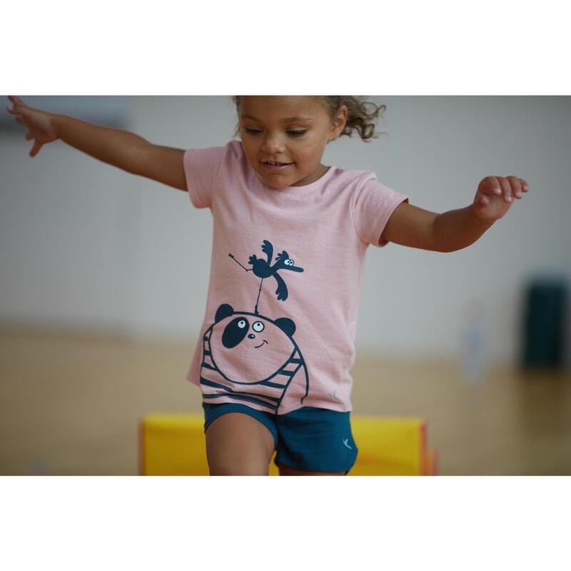 Camiseta Bebé Manga Corta Domyos 100 Rosa 100% Algodón Estampo