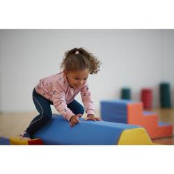 Legging 500 Baby Gym Fille Bleu petrol/Rose