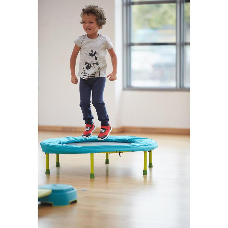 Camiseta Bebé Manga Corta Domyos 100 Gris Algodón Estampado