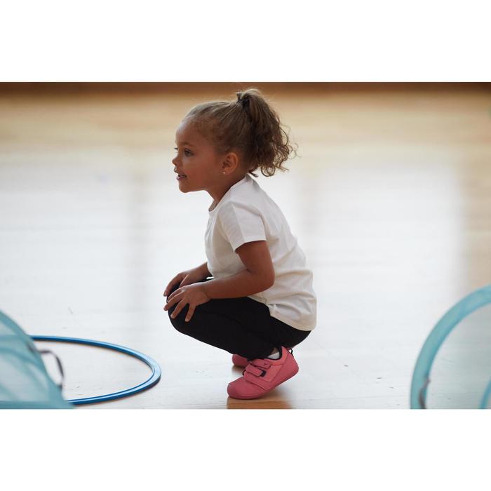 Legging voor kleutergym meisjes 100 zwart