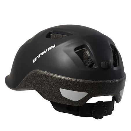 100 City Cycling Helmet Black