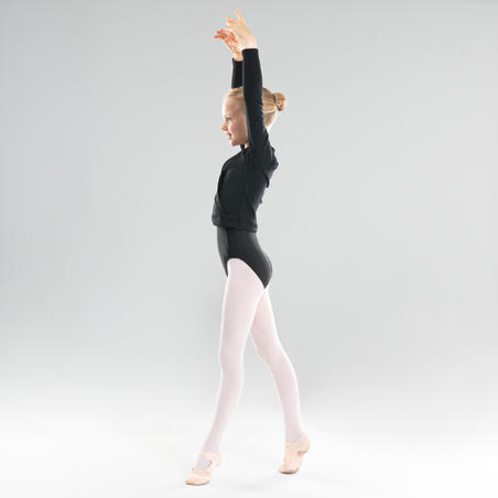 Cache coeur danse classique noir fille