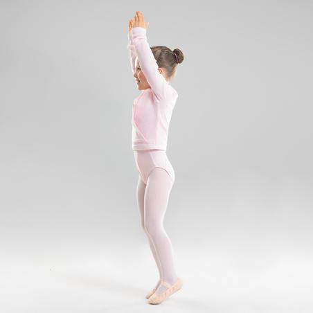 Atasan Ballet Wrap Wanita - Pink