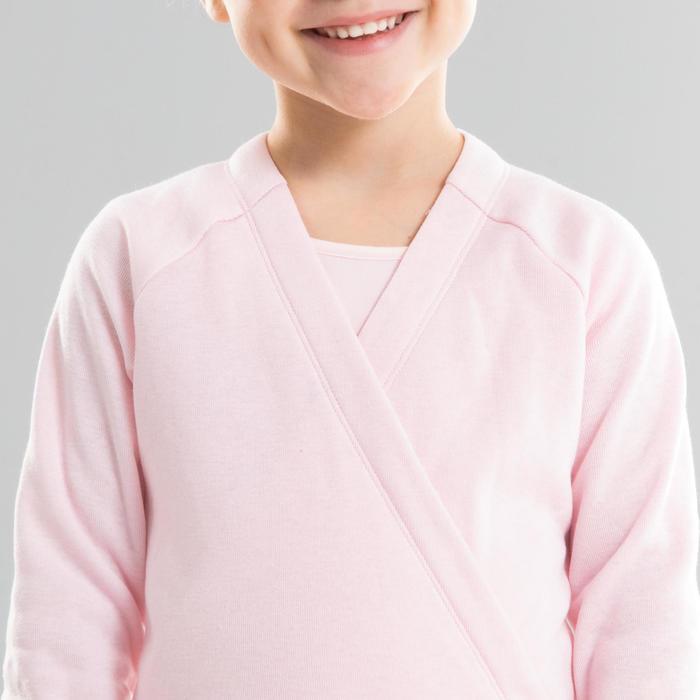 女童芭蕾舞V領開襟式上衣 - 粉色