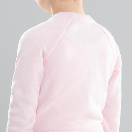 Cache-cœur de danse classique rose – Filles