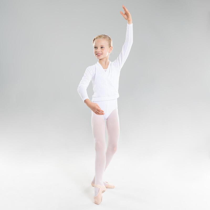 Cache coeur danse classique blanc fille
