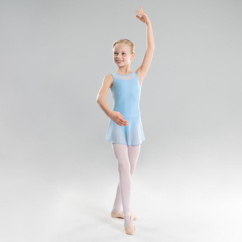 Falda Ballet Domyos Niña Gasa Azul Claro
