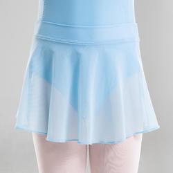 Balletrokje in voile voor meisjes lichtblauw