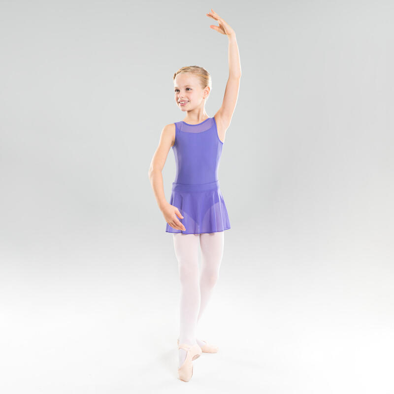 Maillot Ballet Domyos Niña Dos Tejidos Malva