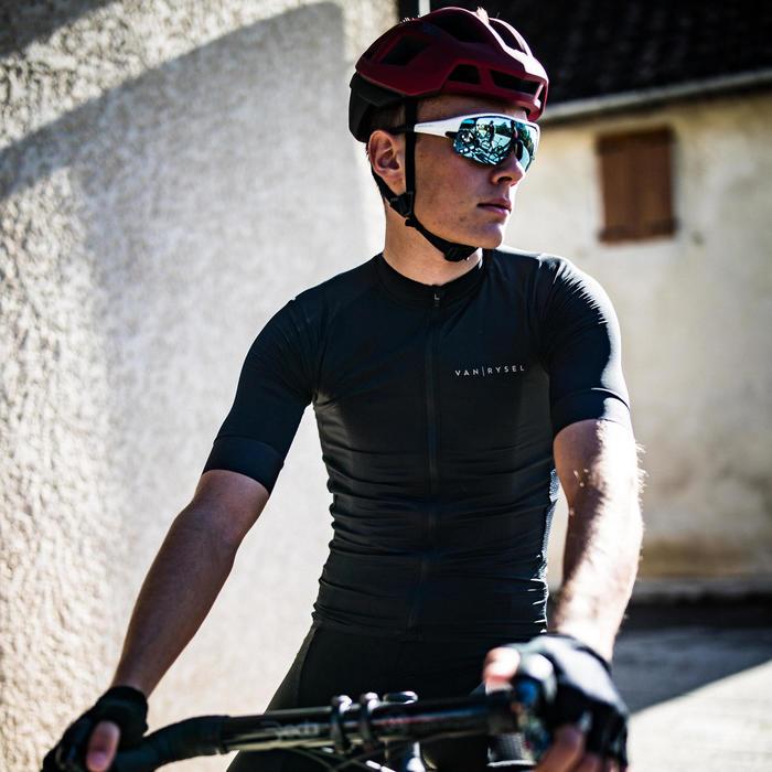 Maillot manches courtes Vélo Route VAN RYSEL RACER noir