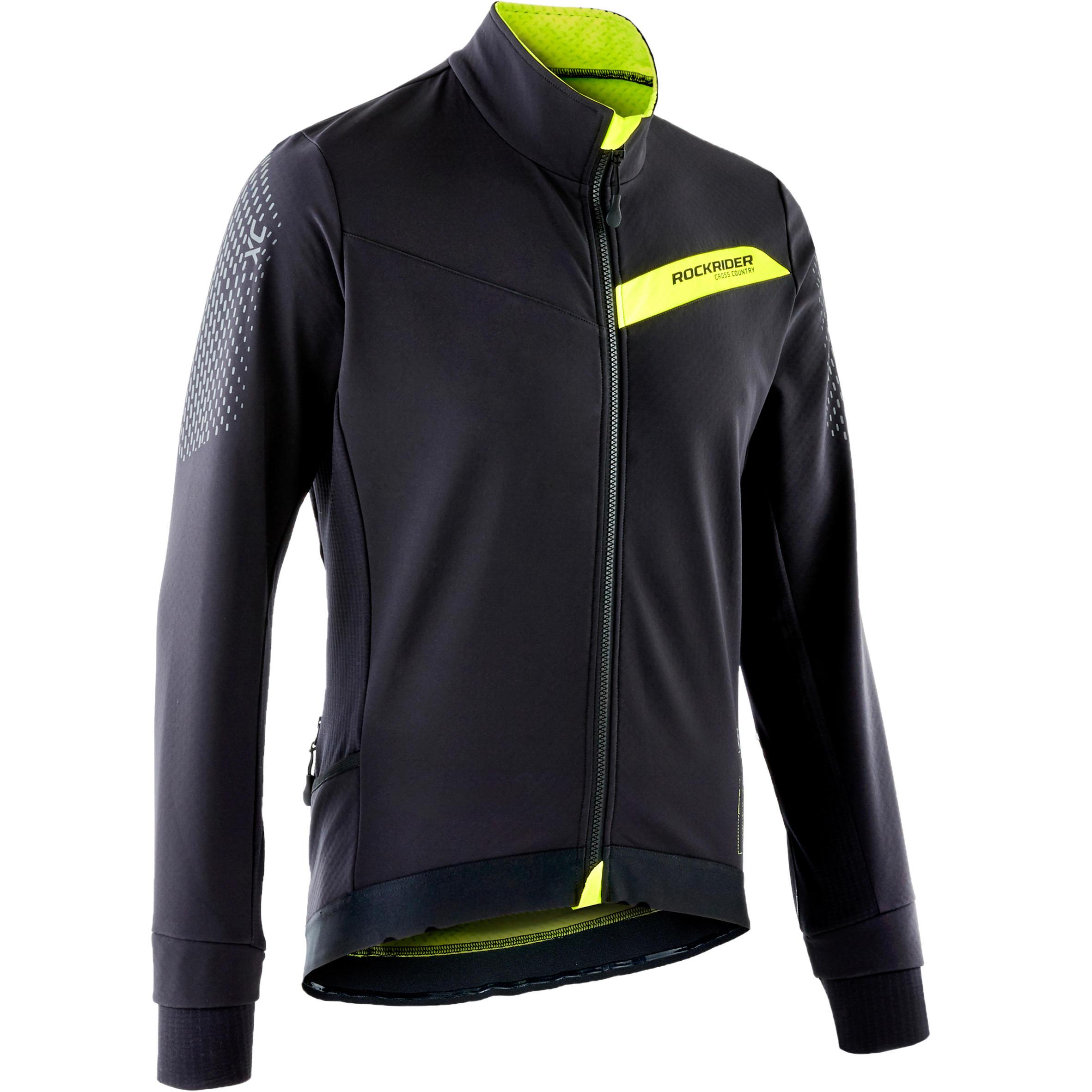 Fahrradjacke MTB XC Slim Fit schwarz/gelb