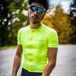 Maillot Manches Courtes Vélo Route VAN RYSEL NEO-RACER jaune