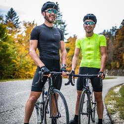 Maillot Manches Courtes Vélo Route VAN RYSEL NEO-RACER jaune