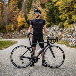Maillot Manches Courtes Vélo Route VAN RYSEL NEO-RACER noir