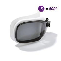 Brillenglas Stärke -5 für Schwimmbrille 500 Selfit Größe S getönt