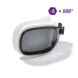 LENS FOR CORRECTIVE SWIMMING GOGGLES SELFIT SMOKED SIZE S / -5.00