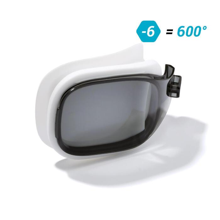 Brillenglas Stärke -6 für Schwimmbrille 500 Selfit Größe S getönt