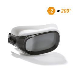 泳鏡500 SELFIT專用深色鏡片,L號,200度