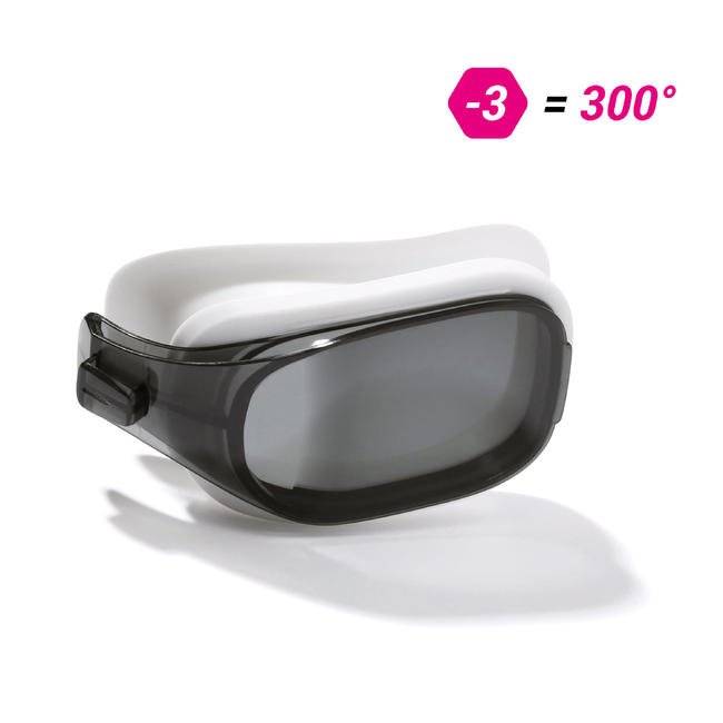 LENS -3 FOR SWIMMING GOGGLES 500 SELFIT SIZE L SMOKE