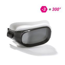 泳鏡500 SELFIT專用深色鏡片,L號,300度