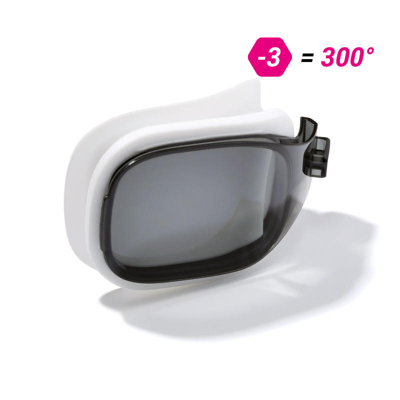 LENS -3 FOR SWIMMING GOGGLES 500 SELFIT SIZE S SMOKE
