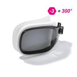 Glas op sterkte -3 voor zwembril Selfit 500 maat S getint
