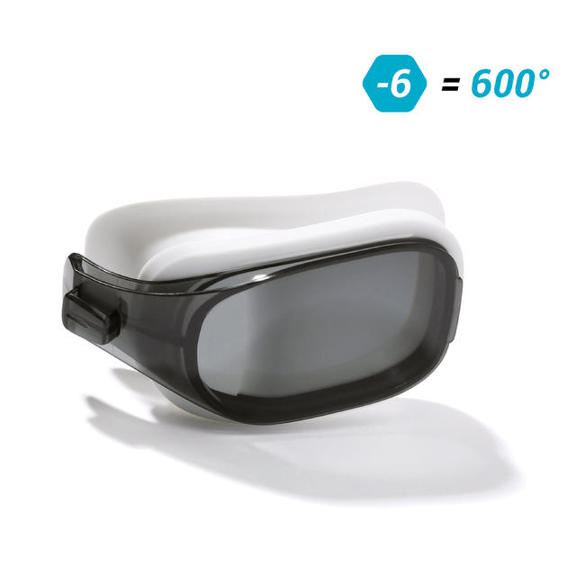 LENS -6 FOR SWIMMING GOGGLES 500 SELFIT SIZE L SMOKE