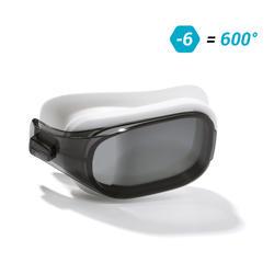 500 SELFIT深色泳鏡鏡片 L號 600度